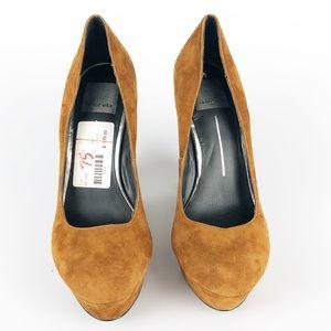Dolce Vita Shoes - Dolce Vita Bryann Orange Suede Heels
